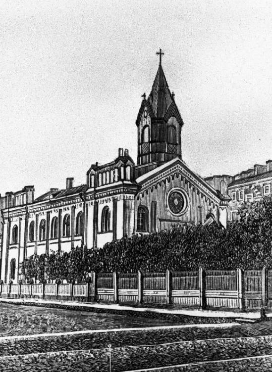 Церковь Христа Спасителя, гравюра XIX в.