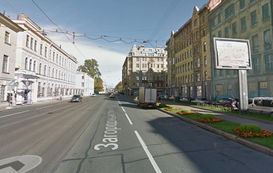 Загородный проспект - снимок из Google Street View