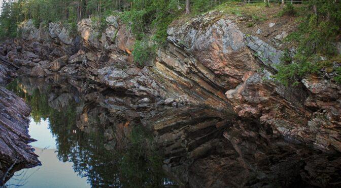 Старое русло Вуоксы, ниже плотины…